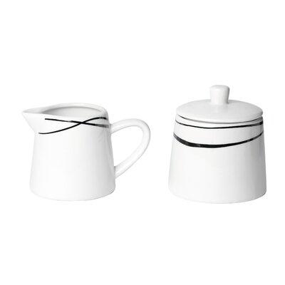 Josef Mäser GmbH 2-tlg. Milchkännchen- und Zuckerdosenset Oslo aus Porzellan