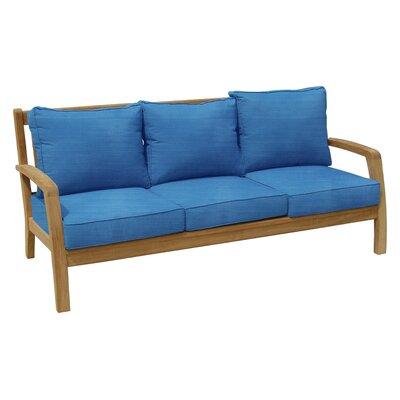 Somerset Teak Patio Sofa with Sunbrella Cushions Fabric: Capri