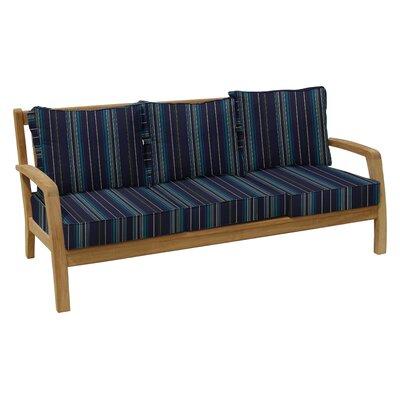 Somerset Teak Patio Sofa with Sunbrella Cushions Fabric: Stanton Lagoon