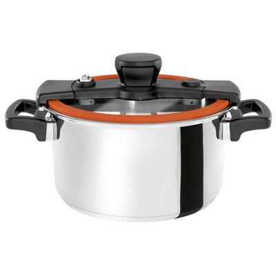 4.2 Qt. Sizzle Black Cooker Finish: Orange, Size: 10.6 Quart