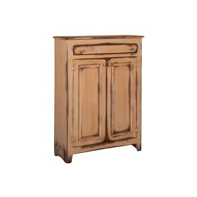 Ruths Pie Safe Storage 2 Door Accent Cabinet Color: Distressed Antique Buttermilk