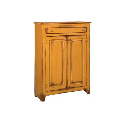 Ruths Pie Safe Storage 2 Door Accent Cabinet Color: Distressed Antique Mustard