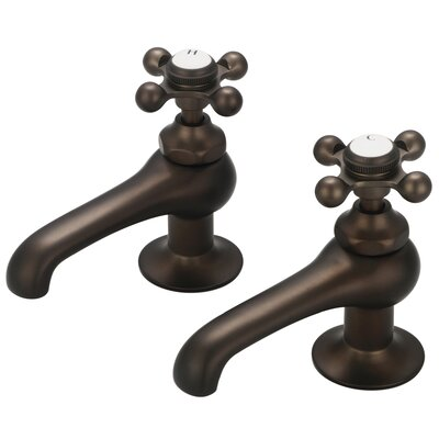 Stonington Widespread Bathroom Faucet Finish: Oil Rubbed Bronze, Style: Cross Handles