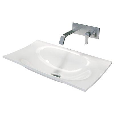 Walter True Solid Surface Rectangular Drop-In Bathroom Sink