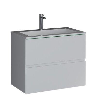 "Sheper True Solid Surface 24"" Pedestal Bathroom Sink"