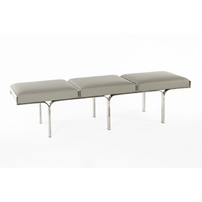 Bergen Bench Upholstery Color: Gray