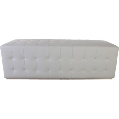 The Friuli Leather Bench Color: White