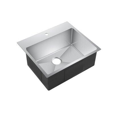 """Water Creation 25"""" L x 22"""" W Drop-In Kitchen Sink"""