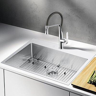 """Water Creation 33"""" L x 22"""" W Drop-In Kitchen Sink"""
