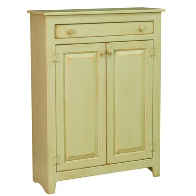 Ruths Pie Safe Storage 2 Door Accent Cabinet Color: Celery