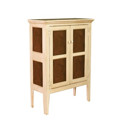 Jeremiahs Pie Safe Storage 2 Door Accent Cabinet Color: Buttermilk