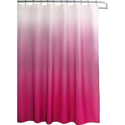 Wicklund 13 Piece Ombre Waffle Weave Shower Curtain Set Color: Fuschia