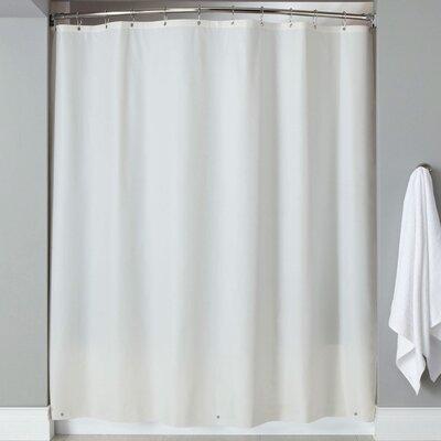 Wellhead 8 Gauge Heavyweight Textured Vinyl Shower Curtain Color: White