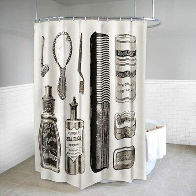 Vanity Vintage Bath Print Fabric Shower Curtain