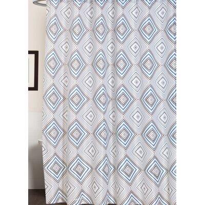 Buckhaven Geometric Print Canvas Shower Curtain