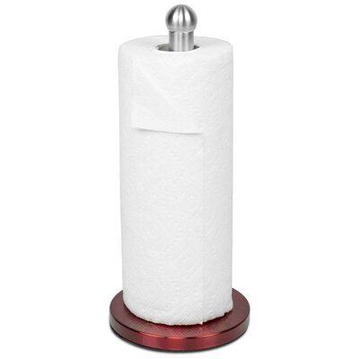 Free-Standing Paper Towel Holder Color: Red
