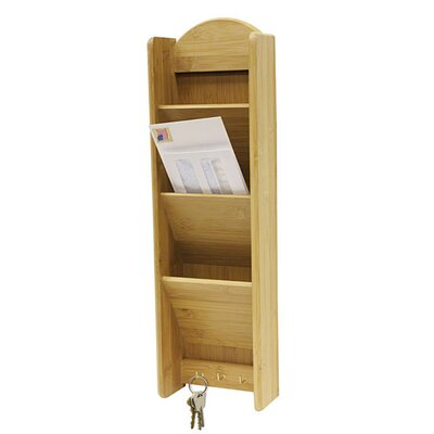 Greenhill 3 Tier Letter Rack with Key Hooks