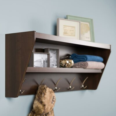 Manzanola Floating Entryway Shelf & Coat Rack Finish: Brown