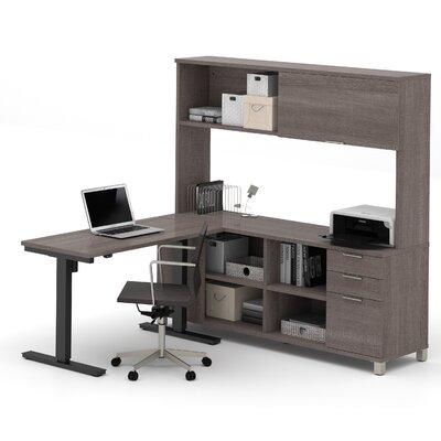 Ariana L-Shape Desk Office Suite Color: Bark Gray