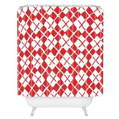 Kessinger Social Proper Holiday Argyle Shower Curtain