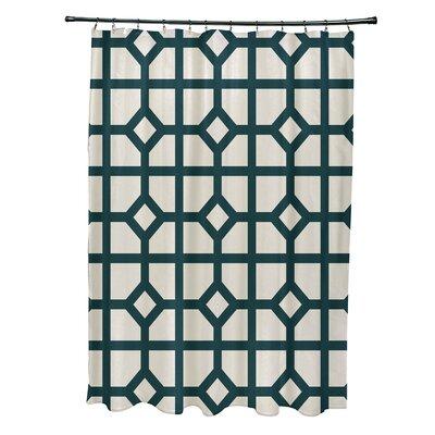 Ketchum Don't Fret Geometric Print Shower Curtain Color: Teal