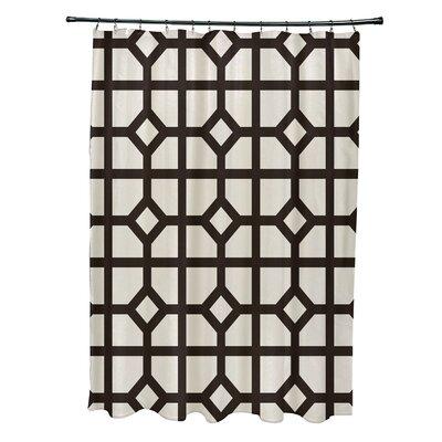 Ketchum Don't Fret Geometric Print Shower Curtain Color: Brown