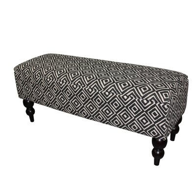 Alland Upholstered Storage Bench Upholstery Color: Black/White Geometric