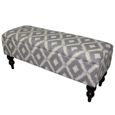 Alland Upholstered Storage Bench Upholstery Color: Soft Blue/White