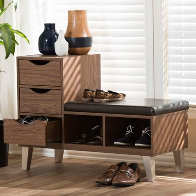 Sperling Faux Leather Storage Bench