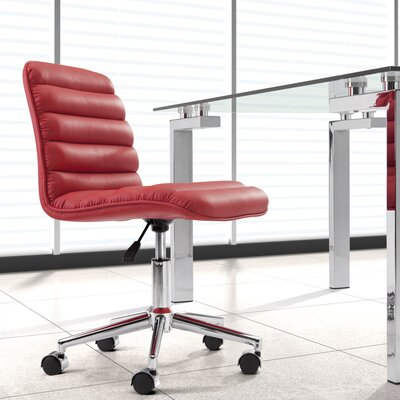 Ardito Desk Chair Upholstery: Red