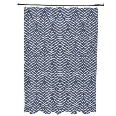 Waller Lifeflor Geometric Shower Curtain Color: Navy Blue