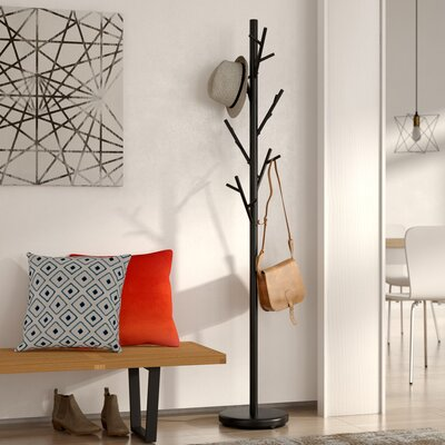 Freestanding Black Coat Rack