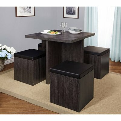 Osgood 5 Piece Dining Set Color: Dark Gray