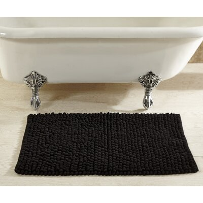 Chenille Rock Bath Mat Color: Black