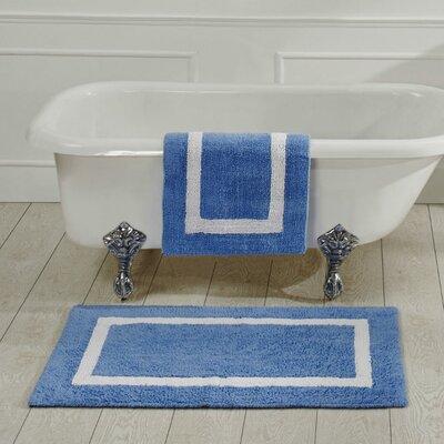 "Hotel Bath Rug Size: 17"" x 24"", Color: Blue"