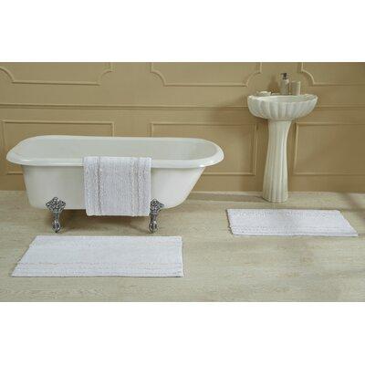 """Bertrand 100% Cotton Bath Rug Size: Size: 24"""" X 40""""; Color: Beige"""