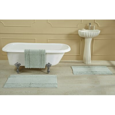 "Bertrand 100% Cotton Bath Rug Size: Size: 21"" X 34""; Color: White"
