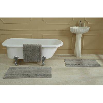 "Bertrand 100% Cotton Bath Rug Size: Size: 24"" X 40""; Color: Aqua"