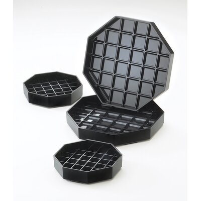 """Octagon Drip Tray Color: Black, Size: 1"""" H x 6"""" W x 6"""" D"""
