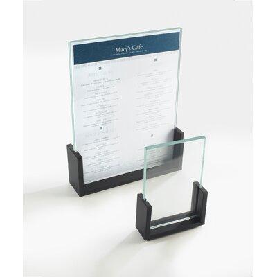 U-Frame Card Holder Color: Black, Size: 2'' Hx3.5'' Wx1'' D