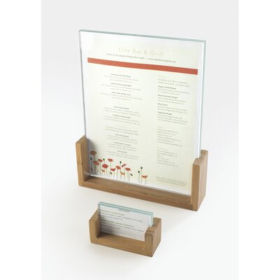 U-Frame Card Holder Color: Bamboo, Size: 2'' Hx3.5'' Wx1'' D
