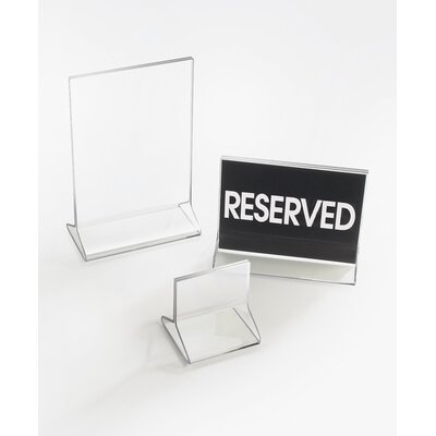 "Classic Display Standard Card Holder Size: 7"" H x 5"" W x 0.25"" D"