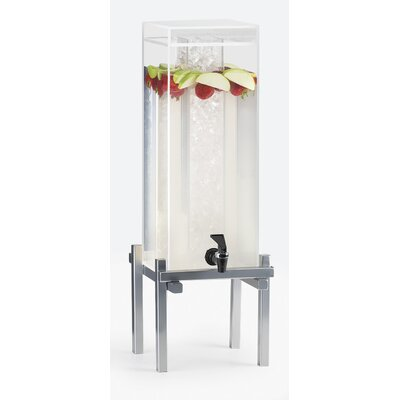 """One by One Beverage Dispenser Color: Silver, Size: 25.5"""" H x 10.25"""" W x 10.25"""" D"""
