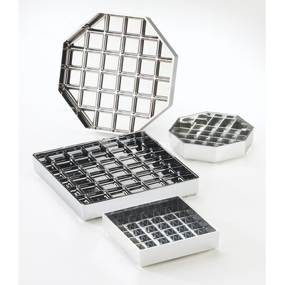 """Octagon Drip Tray Color: Chrome, Size: 1"""" H x 6"""" W x 6"""" D"""