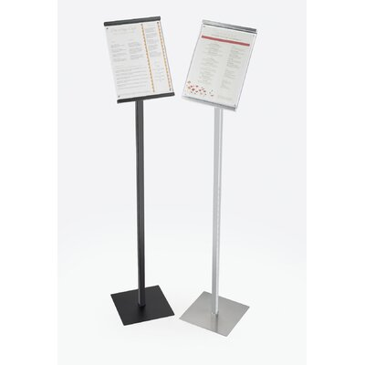 """One by One 8"""" x 11"""" Sign Display Color: Black, Size: 46"""" H x 8.5"""" x 11"""" D"""