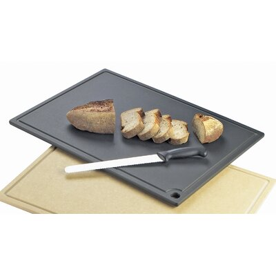 "Cutting Board Size: 0.5"" H x 18"" W x 12"" D, Color: Black"