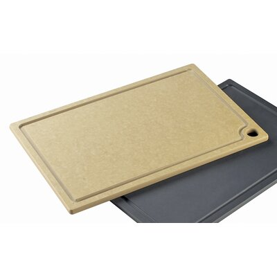 "Cutting Board Size: 0.5"" H x 18"" W x 12"" D, Color: Natural Wood"