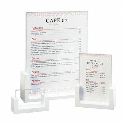 U-Frame Card Holder Size: 12'' Hx9'' Wx1.5'' D, Color: White