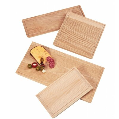 "Wood Cutting Board (Set of 2) Size: 0.75"" H x 12"" W x 7"" D"