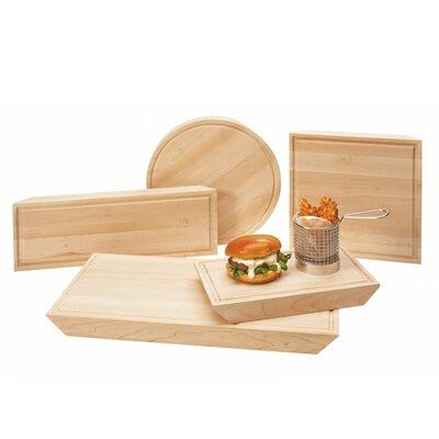 "Wood Cutting Board (Set of 2) Size: 1.5"" H x 12"" W x 7"" D"